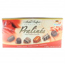 Assorted pralines röd 400g 12 st