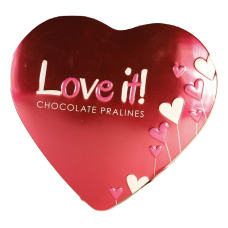 Choklad pralines with cocoa heart tin 84g 10st