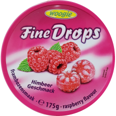 Candies with raspberry flavour 175g 10 st