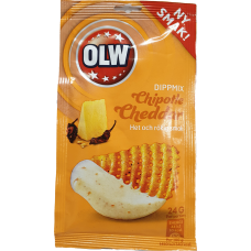 OLW Dipmix Chipotle Cheddar 24g 16 st
