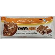 Choc´n Rice whole milk chocolate with puffed rice 150g 32 st