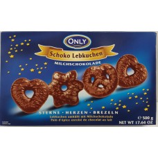 Gingerbread with milk chocolate 500g 10 st