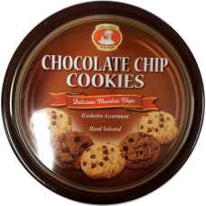 Chocolate chip cookies 454g 12 st